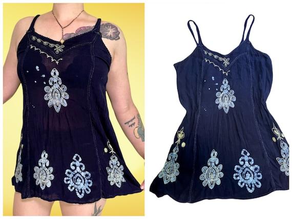 vintage y2k tie dye fairycore grunge cami top - image 1
