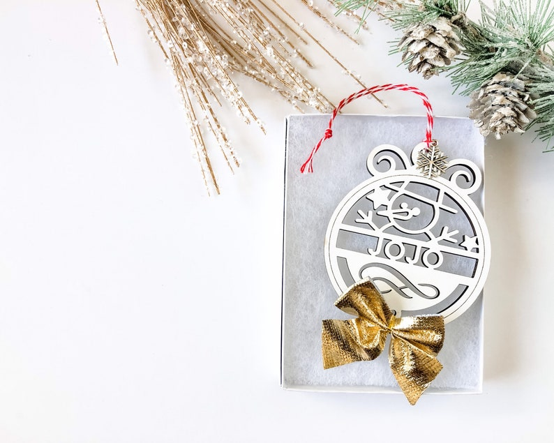 Wooden Ornament Christmas Ornament Snowman Ornament Personalized Name Ornament Santa Ornament Holiday Ornament|