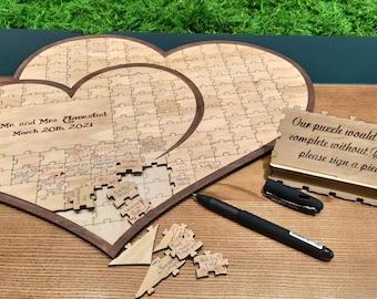 Wedding Guest Book Alternative Wood Guest Book Sign, Custom Puzzle Guest Book, Rustic Guest Book Wood Signs, Wooden Guest Book Wedding Decor