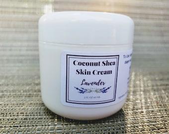 Coconut Shea Skin Cream | Lavendar | 2 oz | Natural Organic | Nipple Balm | Diaper Rash | Dry Skin
