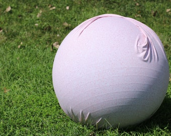 Ball Cover | Exercise | Yoga | Balance | Labor | Birth | Handle | Round | Peanut | Pale Pink with Tiny Flowers