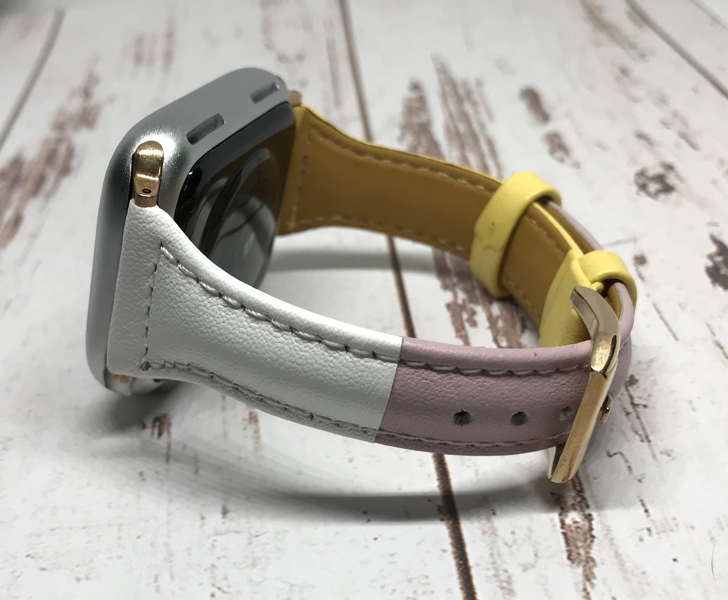 NEW Yellow Genuine Leather Apple Watch band, 38mm 40mm 42mm 44mm For Women, For Apple watch bands series 1 2 3 4 5 6