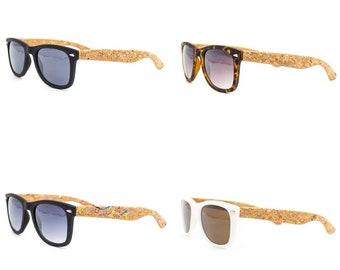 Cork hard case for sunglasses  reading glasses L-526