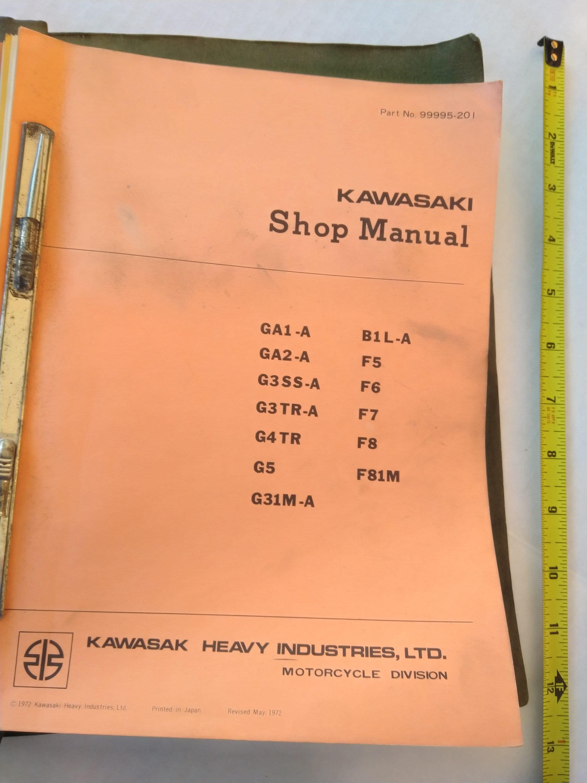 Vintage Kawasaki Shop Manual