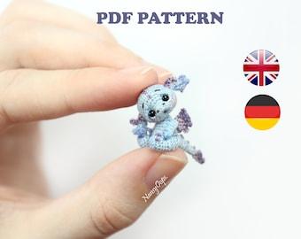 Crochet pattern DRAGON amigurumi pdf tutotial amigurumi dragon pattern by NansyOops fantasy animal miniature