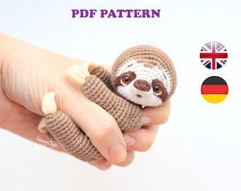 Crochet SLOTH pattern amigurumi pdf tutorial sloth pattern by NansyOops