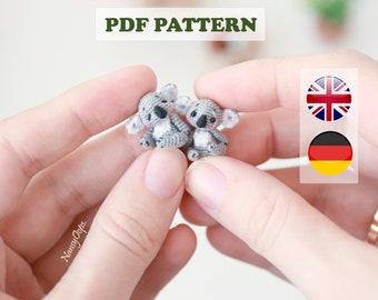 Crochet KOALA pattern micro amigurumi pdf tutotial amigurumi koala bear pattern by NansyOops