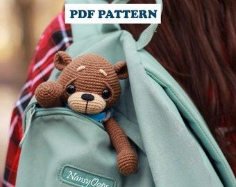 Crochet TEDDY pattern bear Bom amigurumi bear pdf tutotial amigurumi BEAR pattern by NansyOops