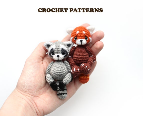 Crochet RED PANDA pattern amigurumi pdf tutotial amigurumi red panda pattern by NansyOops  red panda Spunky pattern