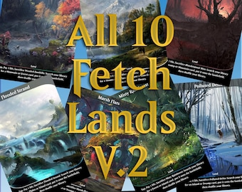 Plains//Forest #18 Non-Foil Panorama Custom Altered Basic Lands MTG
