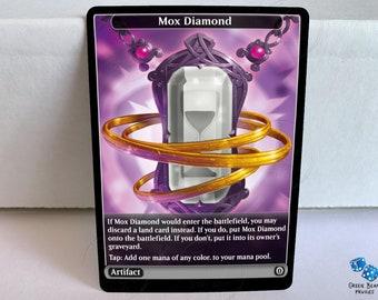 Mox Diamond alternate//altered art foil
