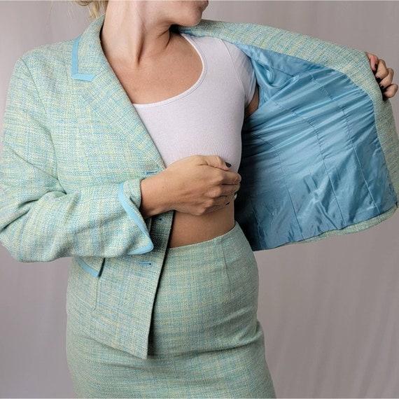 Vintage 70's Mint Green PENDLETON Skirt Suit Set - image 6