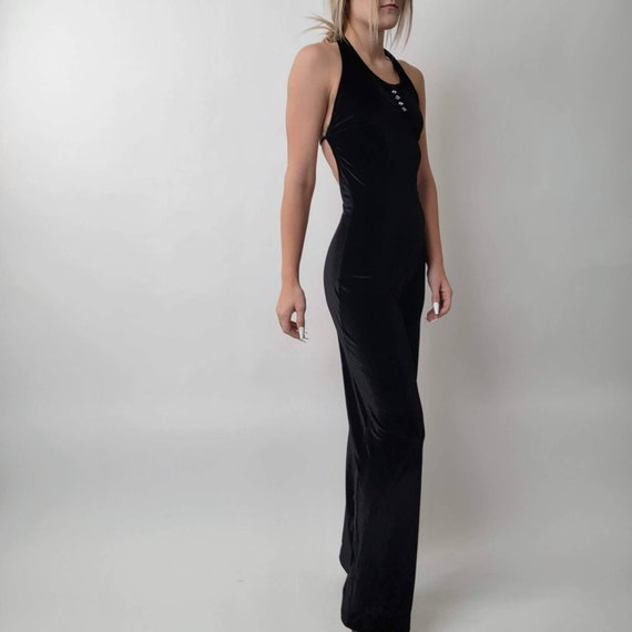 Vintage 70's Black Jumpsuit - image 5