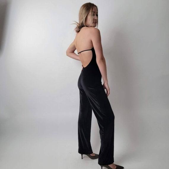 Vintage 70's Black Jumpsuit - image 8