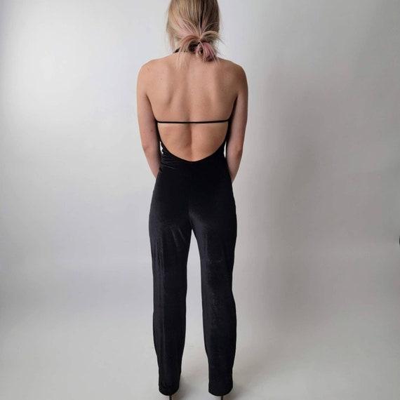 Vintage 70's Black Jumpsuit - image 10