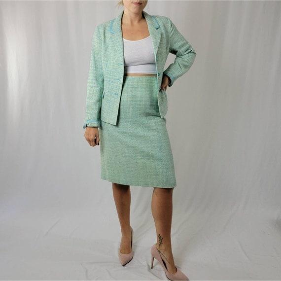 Vintage 70's Mint Green PENDLETON Skirt Suit Set - image 2