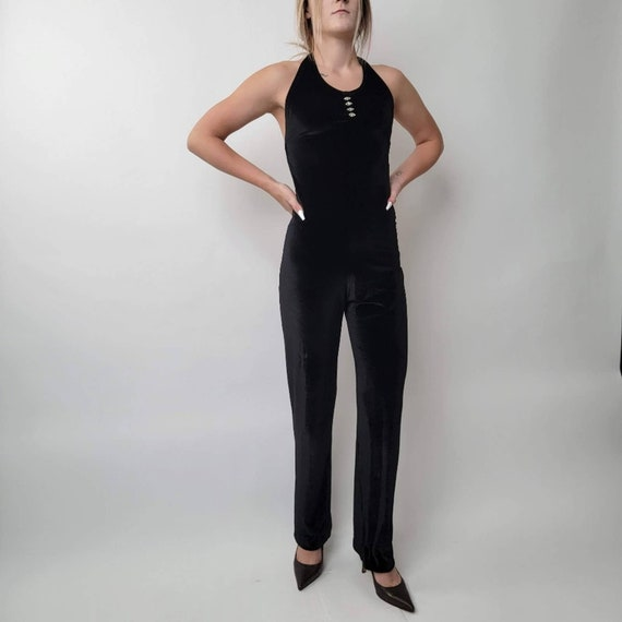 Vintage 70's Black Jumpsuit - image 3
