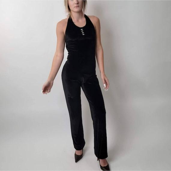 Vintage 70's Black Jumpsuit - image 9