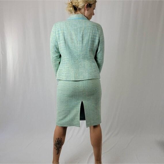 Vintage 70's Mint Green PENDLETON Skirt Suit Set - image 4