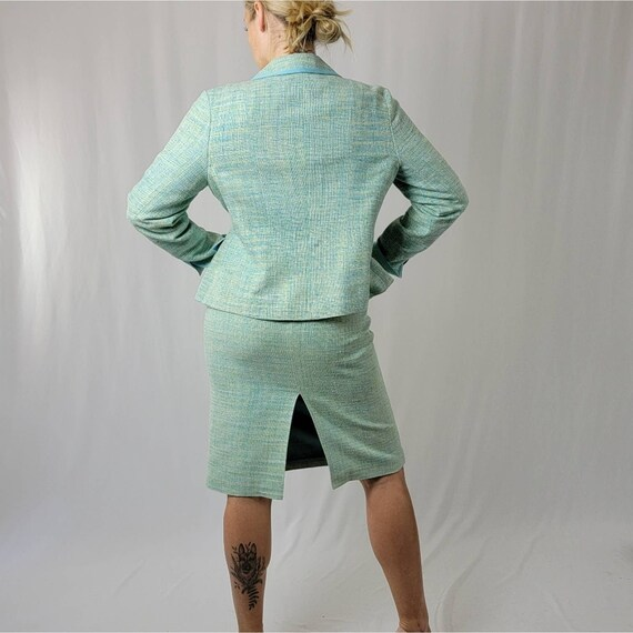 Vintage 70's Mint Green PENDLETON Skirt Suit Set - image 5