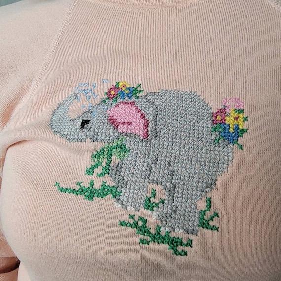 Vintage 90's Cottagecore Crochet Knit Sweatshirt - image 6