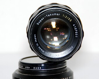 Pentax Super-Takumar M42 f2-55mm Vintage Lens