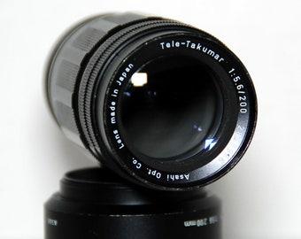 Pentax Tele-Takumar f5.6/200 mm   Vintage