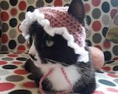 Cat Bonnet Cat Hat Bonnet For Cats Crochet Bonnet Cute Bonnet for Cats Cat Photo Prop My Little baby Cat hat Kitten Bonnet