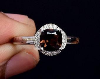 Modern Design Ring Natural Stone Ring Smoky Quartz Ring Herkimer Diamond Ring Unique Handmade Ring Kyanite Ring Birthday Gift For Her