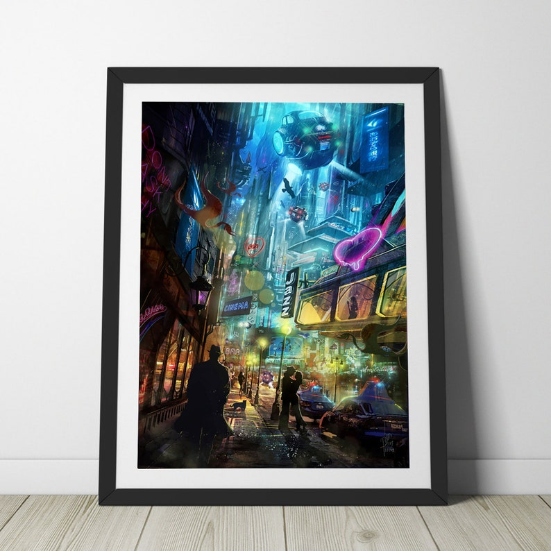 Strangers in the Night  Valentines Day gift  Science Fiction image 0
