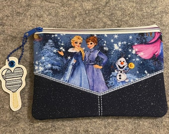 Frozen theme Bag for makeup or purse or travel