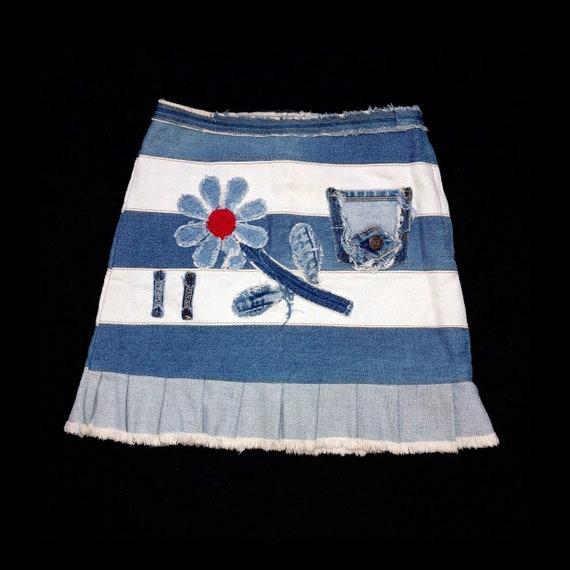 Y2K Custom Patchwork Skirt