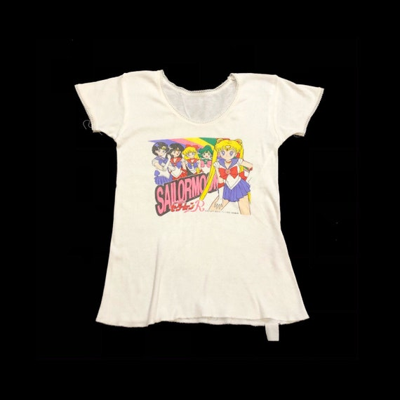 90s Sailor Moon Baby Tee Rare !