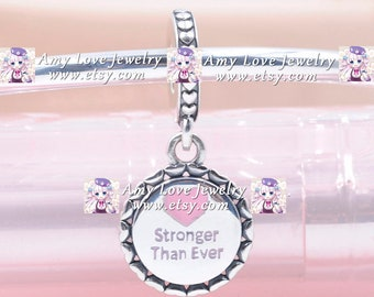 2020 Release Sterling Silver United Together Stronger Than Ever Charm With CZ /& Enamel Charm Beads Fits All European DIY Bracelet Necklaces