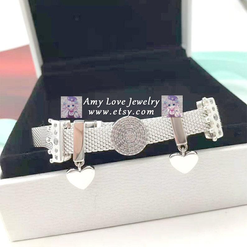 Amy Jewelry S925 Sterling Silver Reflexions Finished Bracelet Charm Bead Jewelry Set