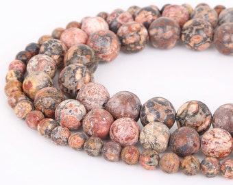 "6mm Flat Heart Leopard Skin Jasper beads 16/"" Strand approx. 70 beads natural"