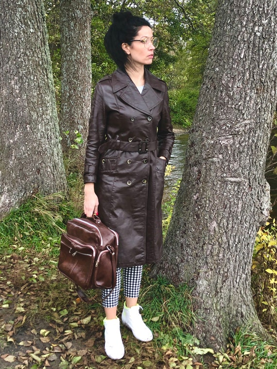 Finn Fant Finland design real leather womens trenc
