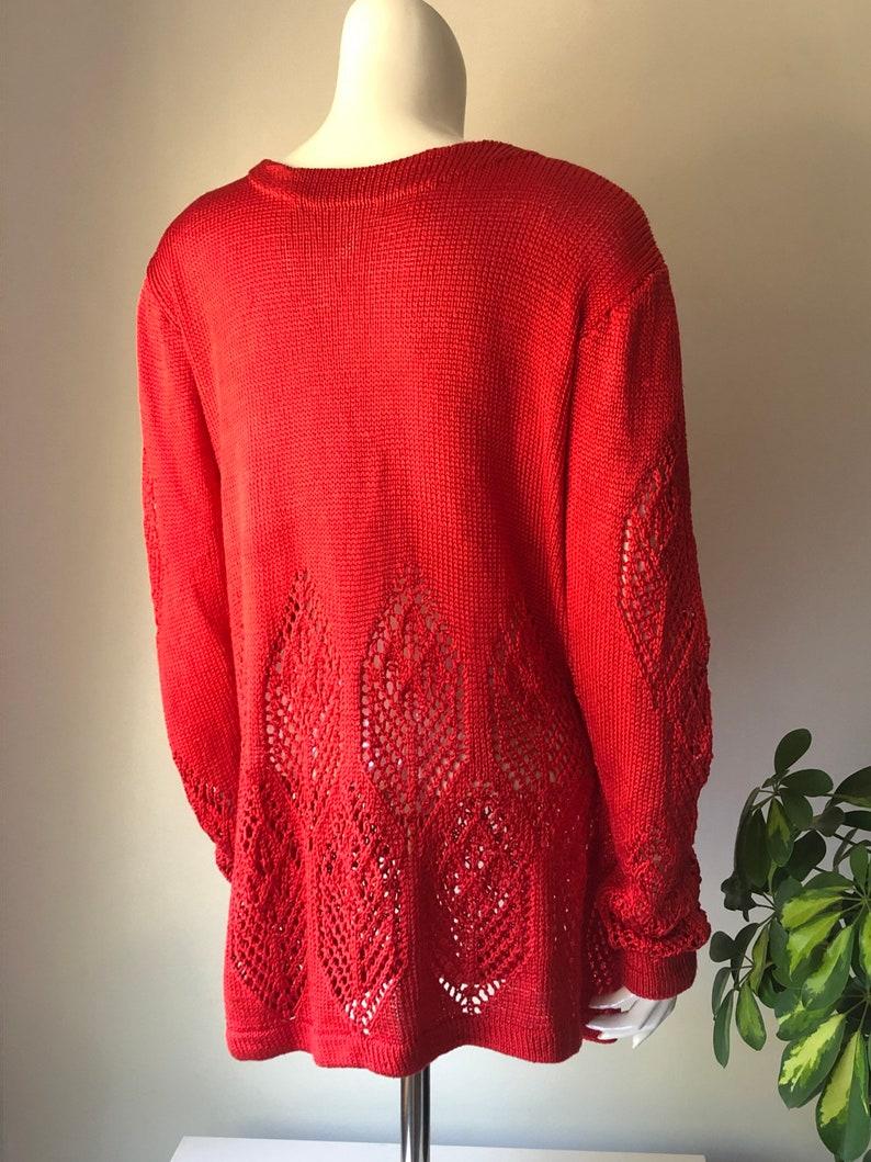 size S-L Knitted leaf pattern women\u2019s sweater feminine jumper oversized