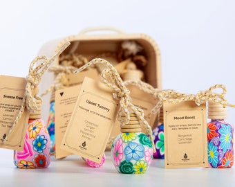 BEST SELLER Essential Oils Blends/ Floral Art Bottle /Aromatherapy/Car Diffuser/Closet Freshner/ Thank you gift