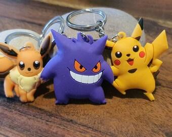 FREE ENGRAVING PERSONALIZED Pokemon Pikachu Keychain Key Ring