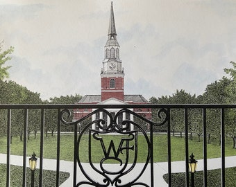 Campus Images NC991A Wake Forest University Academic Framed Lithographic Print