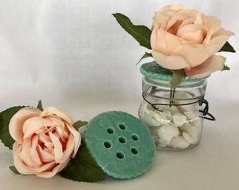 Mason Daisy, Ceramic Flower Frog, Floral Arranger, Gift for Flower Lovers