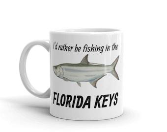 I'd Rather Be Fishing in the Florida Keys Mug | Florida Keys Fishing Mug | Tarpon Coffee Mug