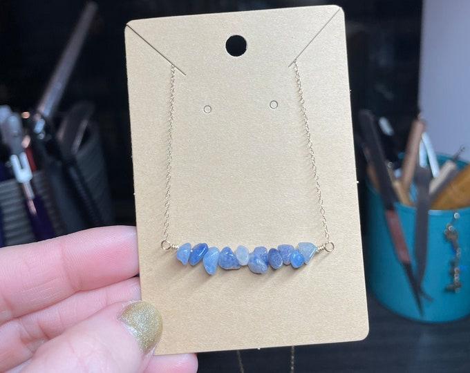 14k Gold Filled Blue Aventurine Necklace