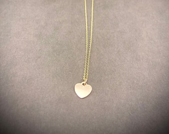Petite Gold Heart Necklace - 14K Gold Filled