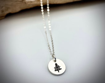 Sterling Silver Pine Tree Necklace