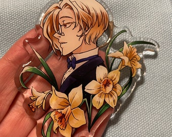 "YuuMori 3"" Acrylic Glitter Floral Charms"