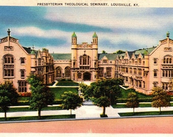 1900s Seminary for Boys color photo postcard Red Wing MN Antique postcard
