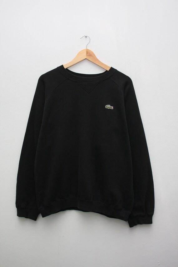 Lacoste Vintage Black Crewneck Sweatshirt
