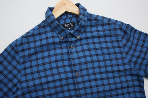 A.P.C. Checkered Blue Flannel Shirt